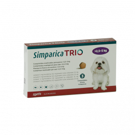 SIMPARICA TRIO 2,6 - 5 KG 3...