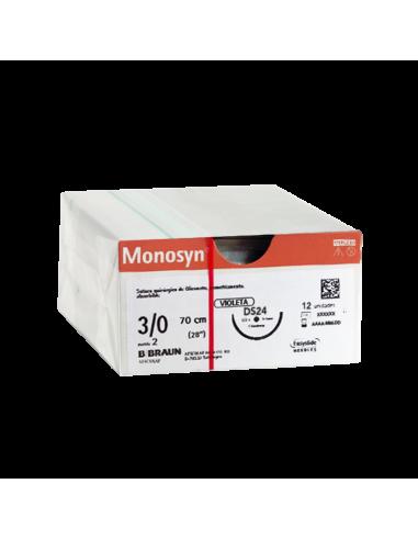 MONOSYN VIOLET 3/0 DS24 - 70cm (12 ud)