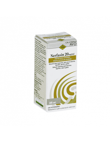 NERFASIN 20 mg/ml SOLUCION INYECTABLE...